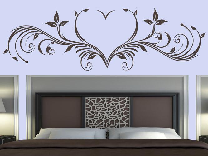wandtattoo rankendokr mit herz bei. Black Bedroom Furniture Sets. Home Design Ideas