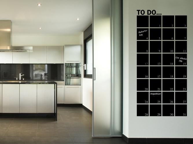 wandtattoo tafelfolie monatsplaner bei. Black Bedroom Furniture Sets. Home Design Ideas