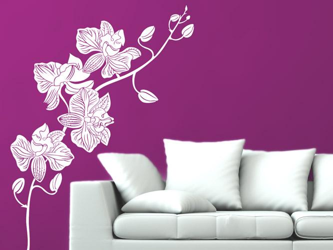 wandtattoo orchideen zweig bei homesticker.de