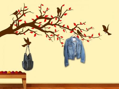 wandtattoo garderoben bei wandtattoos mit garderobenhaken. Black Bedroom Furniture Sets. Home Design Ideas