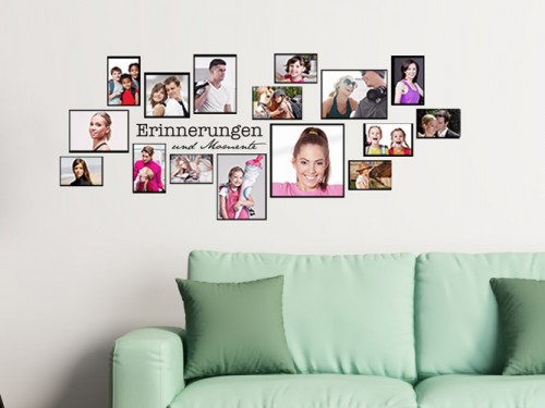 High Quality Wandtattoo Fotorahmen Set Erinnerungen