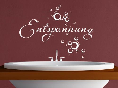 Wandtattoo fürs Badezimmer - Wandtattoo im Bad auf Fliesen, Spiegel ...