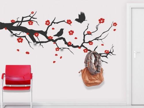 Fabulous Garderobe Ast Mit Kirschbl Ten With Baum Garderobe