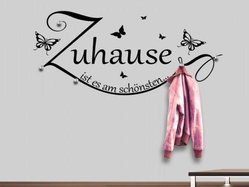 Wandtattoo garderoben bei wandtattoos mit garderobenhaken - Wandtattoo garderobe ...
