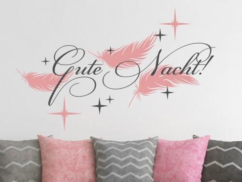 Wandtattoos fürs Schlafzimmer - Wandtattoo Sprüche über dem Bett