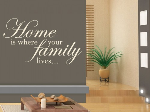 Wandtattoo Home is where your family