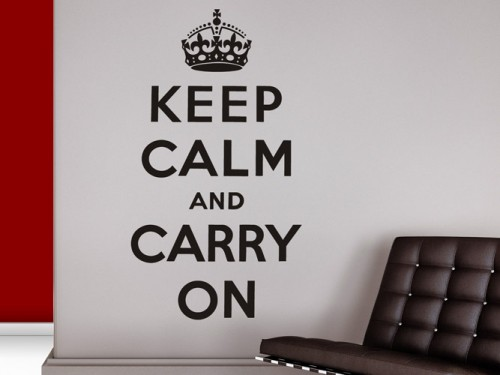 Wandtattoo Keep calm