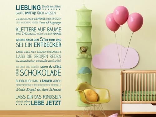 Wandtattoo Sprüche fürs Kinderzimmer bei Homesticker.de - Kinder ...