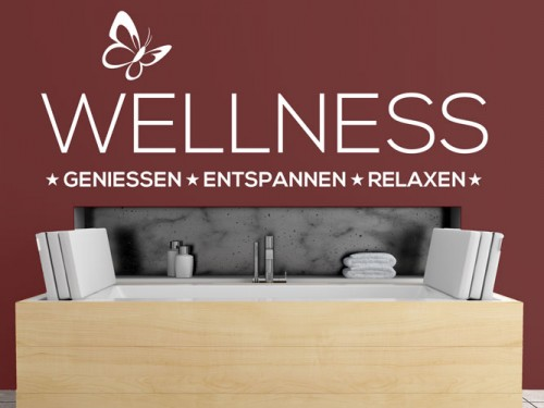 Wandtattoo Wellness mit Schmetterling