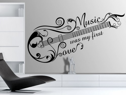 Wandtattoo Music Love Ornament