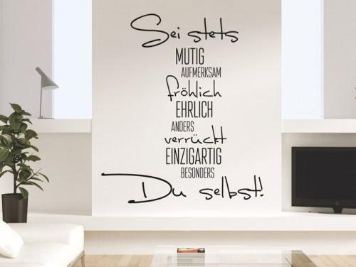 wandtattoo wohnzimmer selber machen. Black Bedroom Furniture Sets. Home Design Ideas