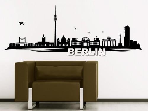 Wandtattoo Berlin. Wandtattoo Skyline Berlin