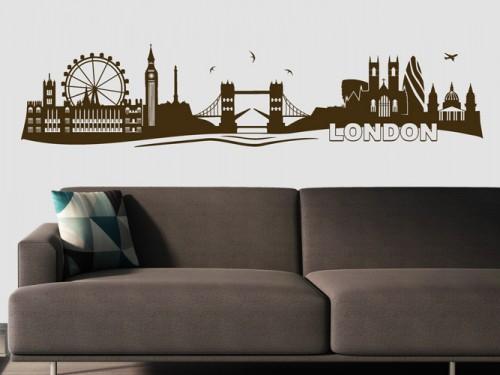 Weltst dte als wandtattoo bei wandtattoo skylines von new york paris london - Skyline london wandtattoo ...