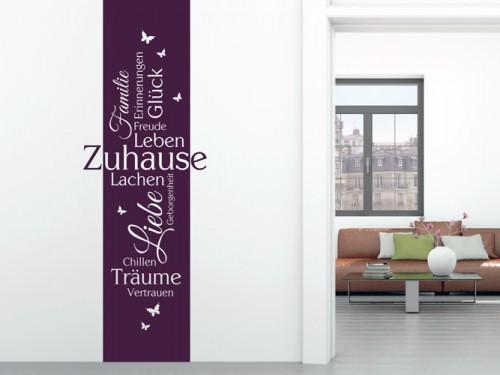 Wandattoos für den Flur - Wandtattoo Sprüche für Eingang und Treppenhaus