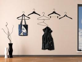 wandtattoo garderobe schriftzug garderobe mit haken bei. Black Bedroom Furniture Sets. Home Design Ideas