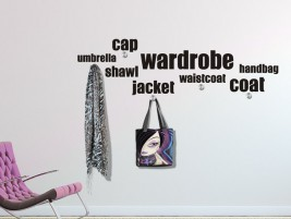Wandtattoo Garderobe Wordcloud