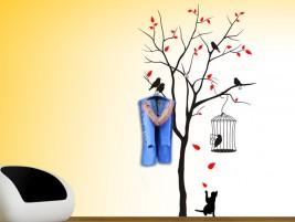 wandtattoo baum im herbststurm bei. Black Bedroom Furniture Sets. Home Design Ideas
