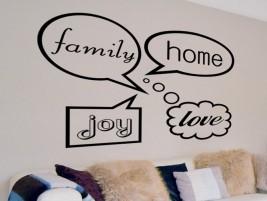 Wandtattoo spruchbanner in dieser familie bei - Wandtattoo family ...