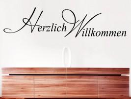 wandtattoo willkommen in handschrift bei. Black Bedroom Furniture Sets. Home Design Ideas