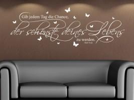 Wandtattoo Der schönste Tag deines Lebens... bei Homesticker.de