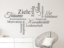 Wandtattoo Motivation, Kreativität, Teamwork