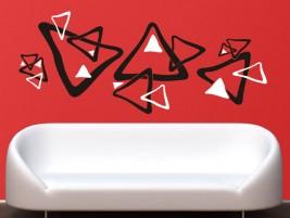 Wandtattoo bunte vierecke im retro stil bei - Wandtattoo dreiecke ...