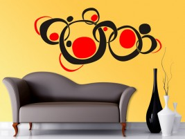wandtattoo bunte kreise retro wandtattoos bei. Black Bedroom Furniture Sets. Home Design Ideas