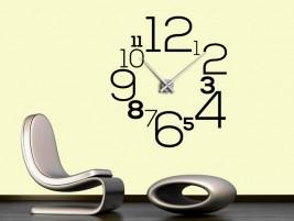 wandtattoo uhr mit buchstaben und w rtern bei. Black Bedroom Furniture Sets. Home Design Ideas