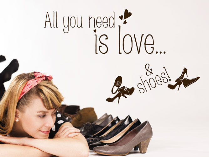 Wandtattoo Love & Shoes, all you need...