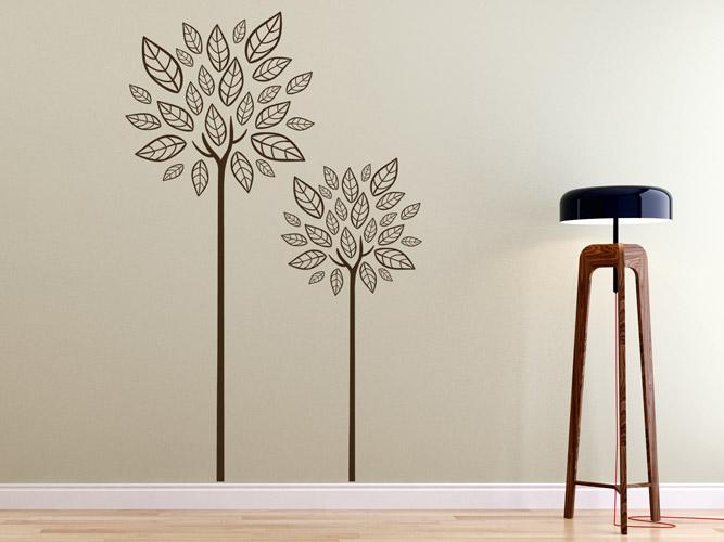 wandtattoo b ume mit ethno bl ttern bei. Black Bedroom Furniture Sets. Home Design Ideas
