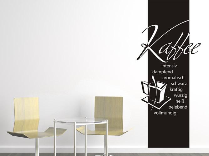 wandtattoo banner kaffee eigenschaften bei. Black Bedroom Furniture Sets. Home Design Ideas