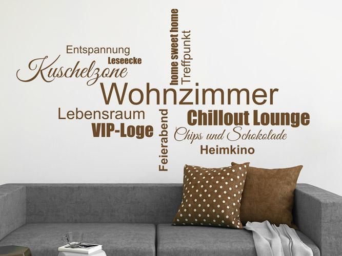 wandtattoo begriffe wohnzimmer bei. Black Bedroom Furniture Sets. Home Design Ideas