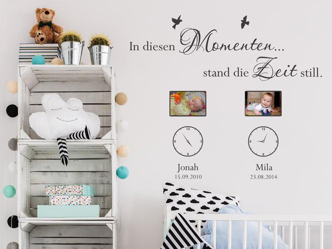 wandtattoo bilderrahmen die zeit stand still mit. Black Bedroom Furniture Sets. Home Design Ideas