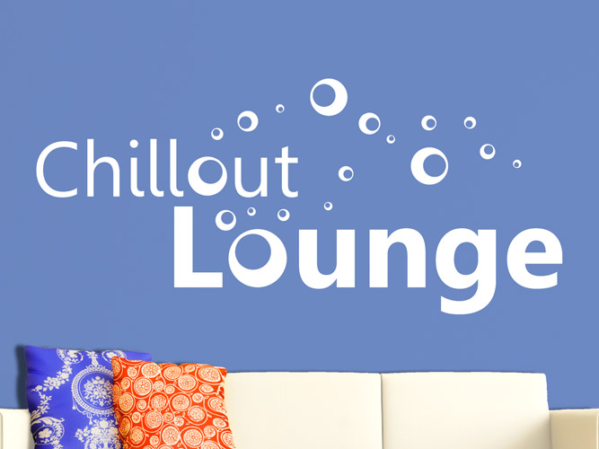 Wandtattoo Chillout Lounge mit Bubbles