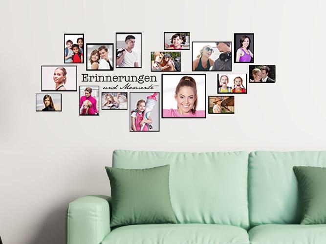 wandtattoo rahmen erinnerungen und momente als fotocollage bei. Black Bedroom Furniture Sets. Home Design Ideas