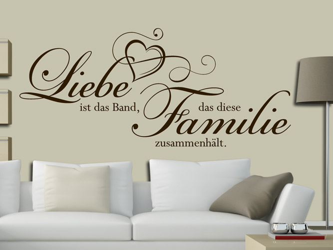 wandtattoo das band der familie bei. Black Bedroom Furniture Sets. Home Design Ideas
