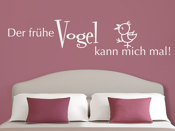 wandtattoo der fr he vogel bei. Black Bedroom Furniture Sets. Home Design Ideas