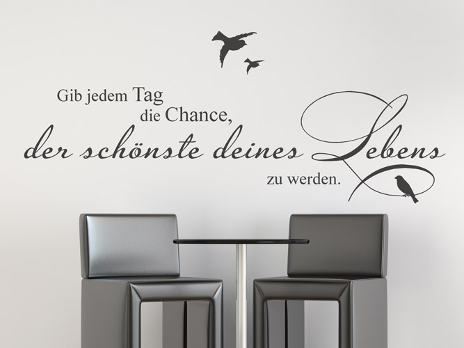 wandtattoo der sch nste tag deines lebens bei. Black Bedroom Furniture Sets. Home Design Ideas