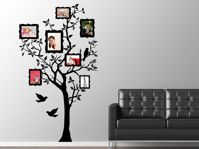 wandtattoo fotorahmen im baum bei. Black Bedroom Furniture Sets. Home Design Ideas