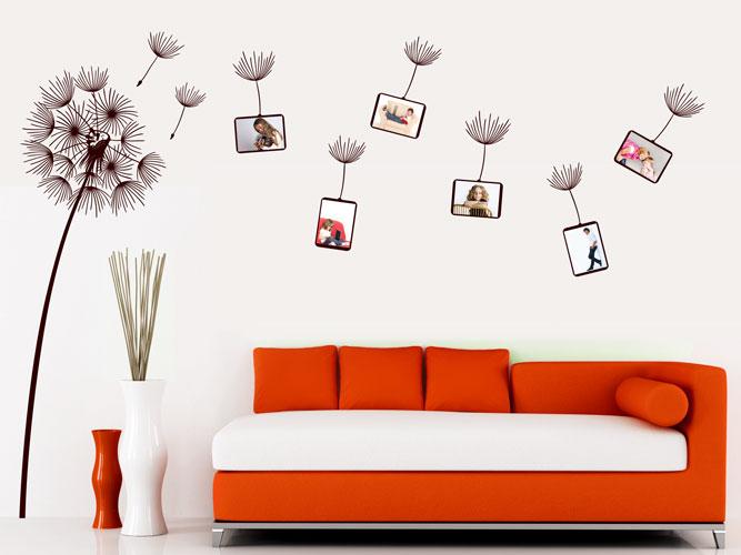das wandtattoo fotorahmen pusteblume im wind bei. Black Bedroom Furniture Sets. Home Design Ideas