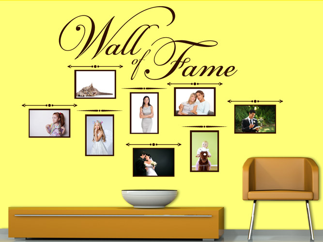 Wandtattoo Fotorahmen Wall of Fame