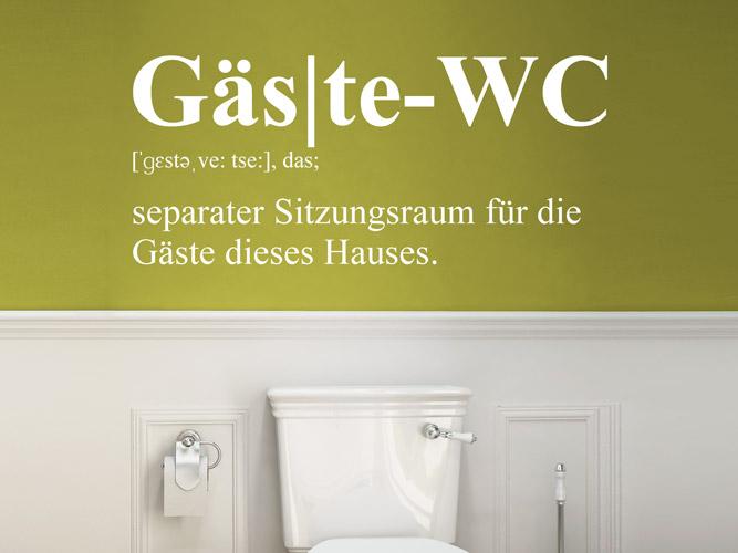 wandtattoo g ste wc separater sitzungsraum bei. Black Bedroom Furniture Sets. Home Design Ideas