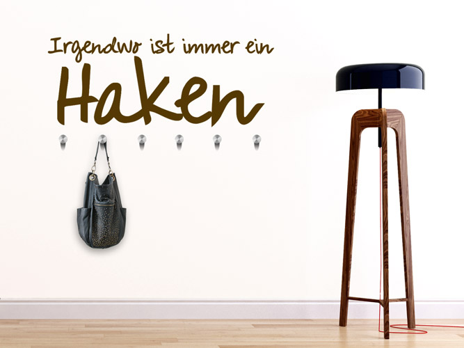 wandtattoo garderobe mit haken wandtattoos als garderoben. Black Bedroom Furniture Sets. Home Design Ideas