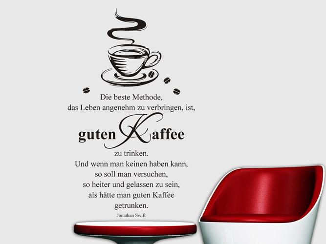 Wandtattoo Guten Kaffee mit Tasse bei Homesticker.de
