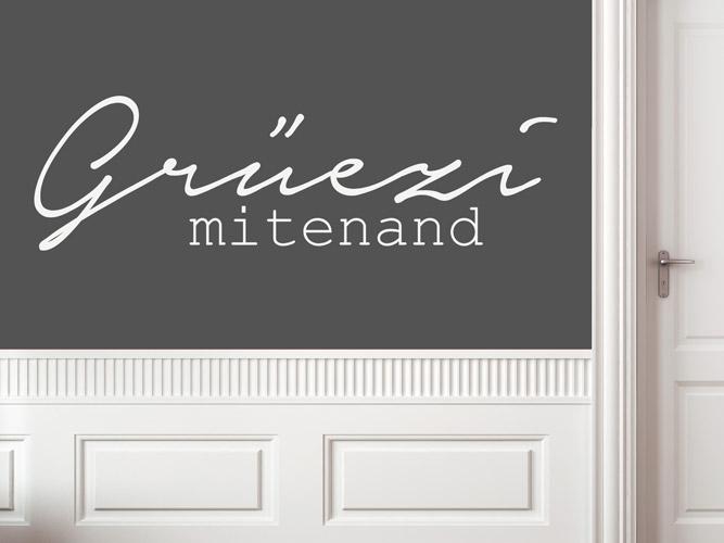 wandtattoo herzlich willkommen schweizerdeutsch bei. Black Bedroom Furniture Sets. Home Design Ideas