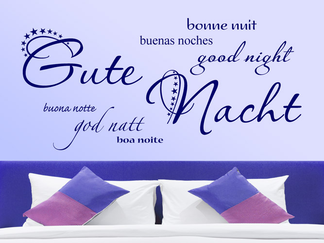 Wandtattoo Internationales Gute Nacht!