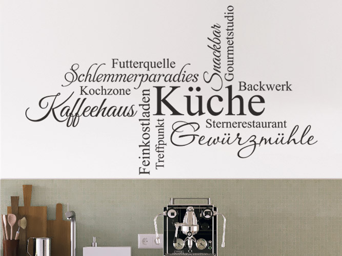 Wandtattoo Küche, Schlemmerparadies, Kaffeehaus...bei Homesticker.de
