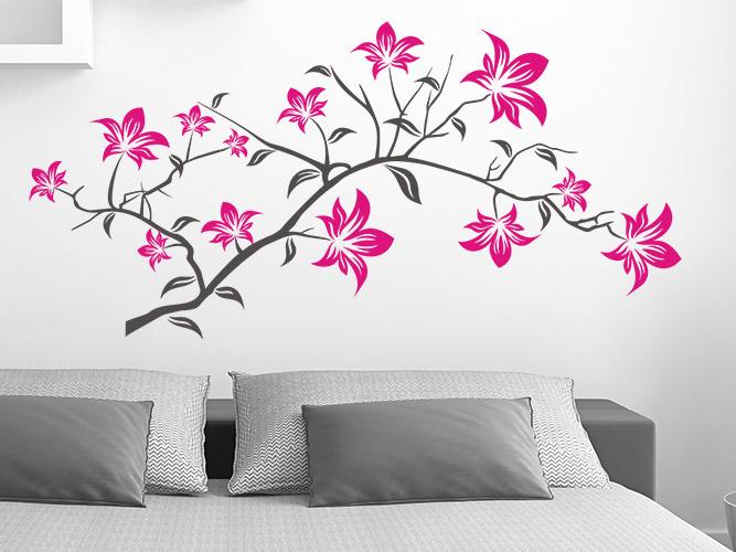 wandtattoo magnolie reuniecollegenoetsele. Black Bedroom Furniture Sets. Home Design Ideas