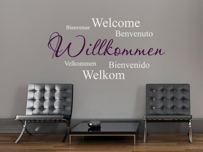 wandtattoo schablone willkommen reuniecollegenoetsele. Black Bedroom Furniture Sets. Home Design Ideas