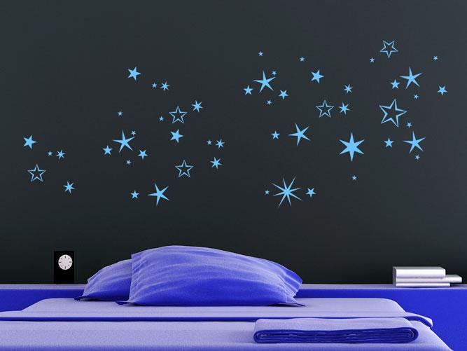 wandtattoo n chtlicher sternenhimmel bei. Black Bedroom Furniture Sets. Home Design Ideas